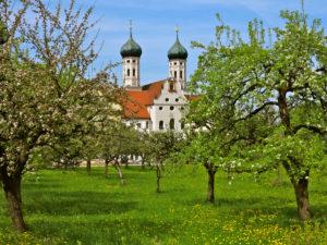 Abbey church St. Benedikt, Benediktbeuern, Germany, Bavaria, Upper Bavaria