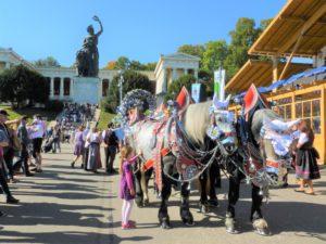 Germany, Upper Bavaria, Munich, Oktoberfest, team of Bavaria and Hall of Fame