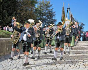 Germany, Bavaria, Andechs, Three Hosts Fest, procession, band