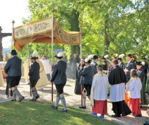 Germany, Bavaria, Andechs, Three Hosts Fest, Procession