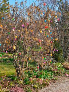 Germany, Bavaria, Germering, garden, easter tree, spring