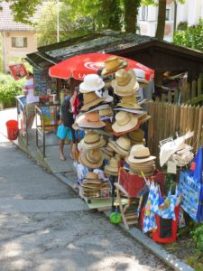 Germany, Bavaria, Andechs, Souvenirstand, Hats