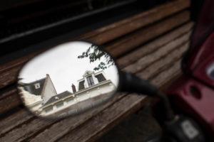 The Netherlands, Holland, Amsterdam, rear-view mirror, motorbike, reflexions,