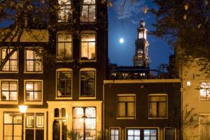 Niederlande, Holland, Amsterdam, Jordaan, Häuserfront, Westerkerk