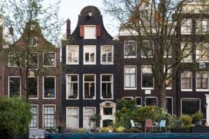 Niederlande, Holland, Amsterdam, Prinsengracht, Giebel und Garten