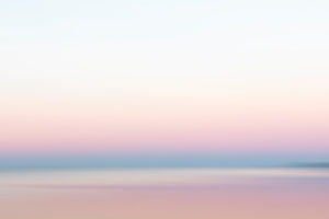 Abendhimmel über der Ostsee, Wischeffekt