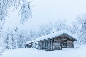 Finland, Lapland, Muonio, Keimiöniemi, fisherman's hut