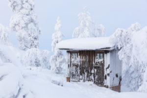 Finland, Lapland, winter, Enontekiö, landscape of Jyppyrä