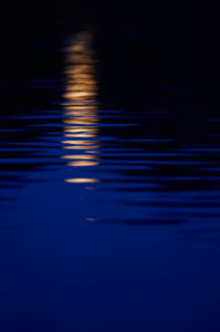 Reflection, moon, water