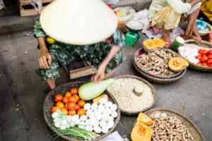 Market scene in Hoi An, Vietnam