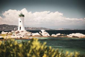 Leuchtturm nahe Palau, Sardinien, Costa Smeralda