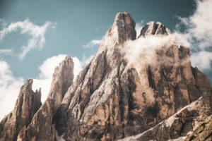 Berggipfel, Einser Kofel, Teil der 'Sextener Sonnenuhr', Dolomiten, Südtirol, Italien,