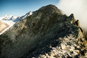 Berge am Aletschgletscher, Wallis, Schweiz