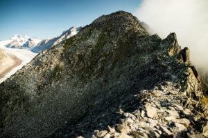 Mountains at the Aletsch Glacier, Valais, Switzerland