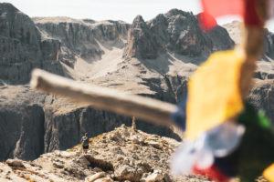 Gipfel des Sas Campac in den Dolomiten