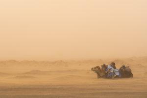 Sandsturm, nördliche Sahara, Marokko