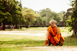 Monk, Angkor Temple