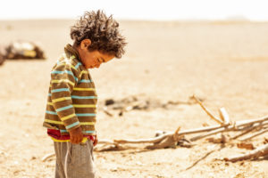 Boy of a nomad family, Sahara