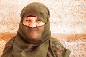 old lady, Morocco