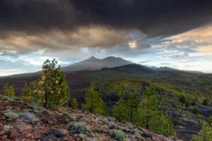 Sky over volcanic desert, Tenerife