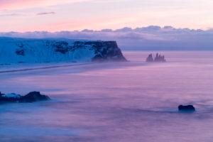 Reynisdrangar, black rock pinnacles off the coast of Vík í M²rdal, Iceland