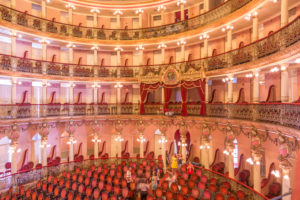 The Teatro Amazonas is an opera house in Manaus, Brazil. The construction was financed by the rubber boom and inaugurated on December 31, 1896.