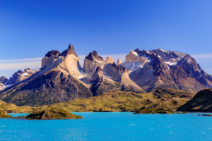 Lago Pehoe, Nationalpark Torres del Paine, Patagonien, Chile
