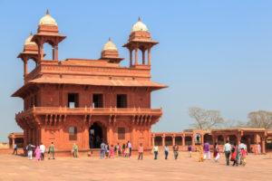 Audienzhalle Diwan-i-Khas, Königspalast, Fatehpur Sikri, Uttar Pradesh, Indien