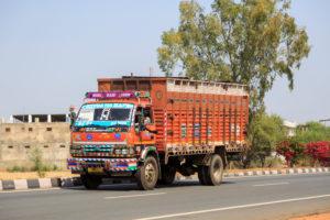 An der Schnellstraße in Rajasthan, Indien