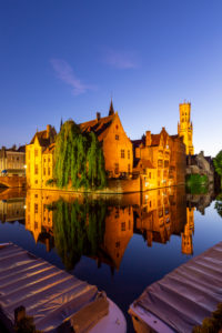 Muelle del rosario, Rozenhoedkaai, Bruges, Flanders, Belgium
