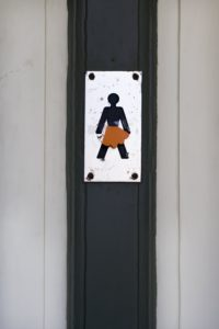 Public toilet, pictogram, women,