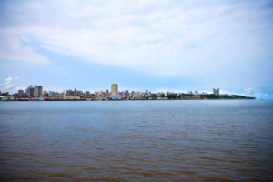 Skyline of Maputo made from Catembe