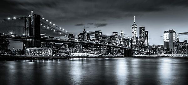 America, United States, New York City, Manhattan, Brooklyn Bridge