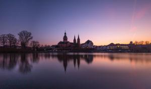 Deutschlad, Hessen, Seligenstadt, monastery, sunset