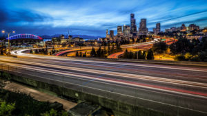 USA, Washington, Seattle, skyline