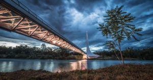 USA, California, Redding, Sundial Bridge