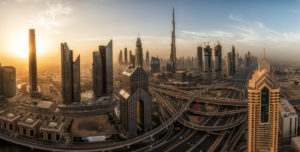 United Arab Emirates, Dubai, Burj Khalifa, panorama