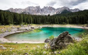 Italy, South Tyrol, Dolomites, Karersee