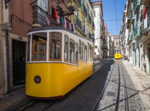 Portugal, Lisbon, tram