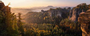 Germany, Saxony, Saxon Switzerland, Bastei, Pavilion view