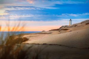 The lighthouse Rubjerg Knude in Denmark