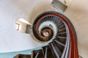 Stairway of Lyngvig Fyr lighthouse near Hvide Sande