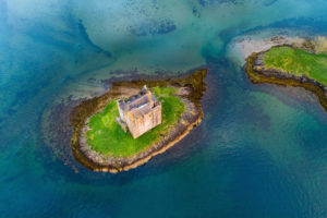 Castle Stalker at Loch Linnhe, Scotland