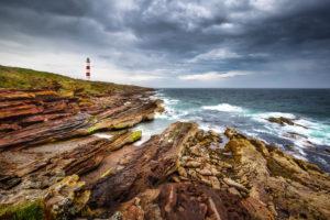Tarbat Ness Lighthouse on the Tarbat Ness peninsula