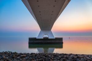 The Zeeland Bridge, lokally known as Zeelandbrug is with 5022 metres the longest bridge in the Netherlands, It was built between 1963 and 1965.