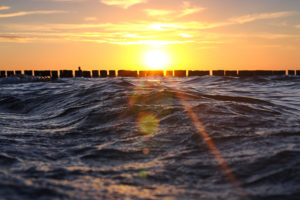 Waves at Sunset, Baltic Sea, Zingst