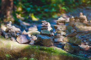Cairns at National Park Harz