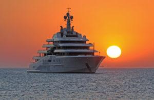 Superyacht, Ibiza, Spain, Sunset,