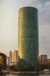 Architecture in Frankfurt am Main, Sunset, Hesse, Germany,