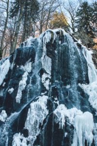 Frozen Waterfall, Winter Landscape, Brocken, Harz, Germany